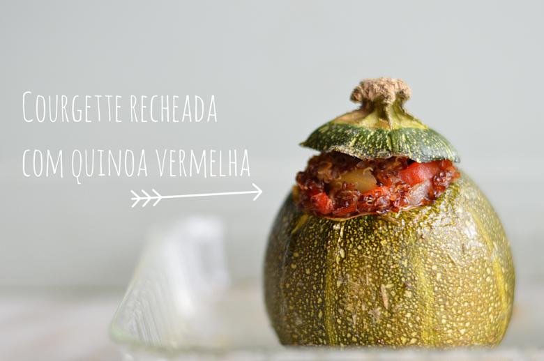 Courgette recheada com quinoa vermelha